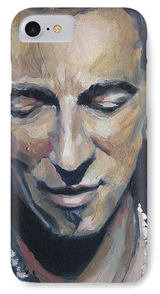 It's Boss Time II - Bruce Springsteen Portrait IPhone Case by Khairzul MG