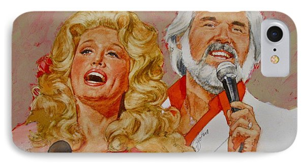 Its Country - 8  Dolly Parton Kenny Rogers IPhone Case by Cliff Spohn