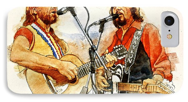 Its Country - 7  Waylon Jennings Willie Nelson IPhone Case by Cliff Spohn