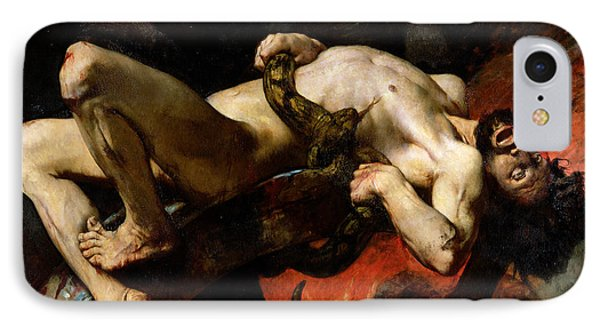 Ixion Thrown Into Hades IPhone Case by Jules Elie Delaunay
