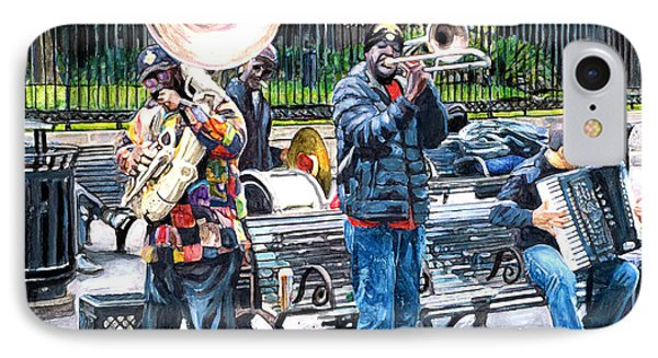 Jackson Square Musicians IPhone Case by John Boles