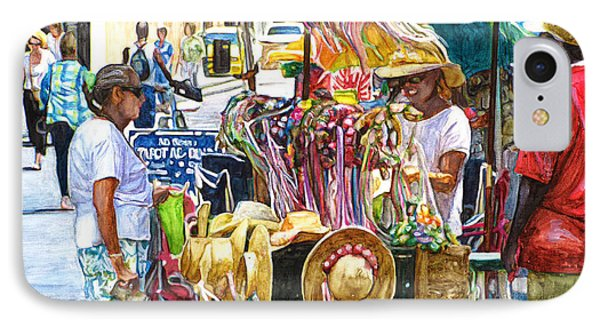 Jackson Square Vendor IPhone Case by John Boles