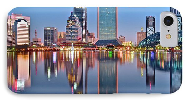 Jacksonville Florida At Daybreak IPhone Case by Frozen in Time Fine Art Photography