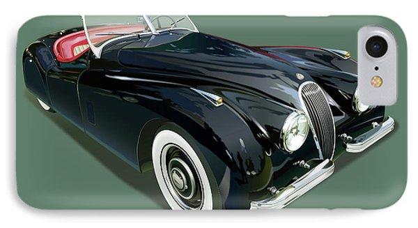 Jaguar Xk 120 Illustration IPhone Case by Alain Jamar