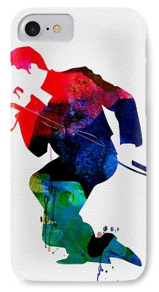 James Watercolor IPhone Case by Naxart Studio