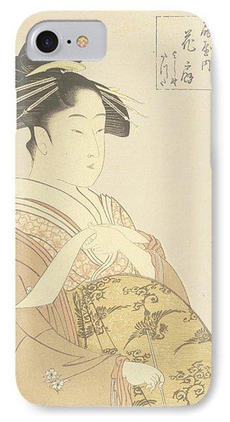Japanese Courtesan IPhone Case by Kitagawa Utamaro
