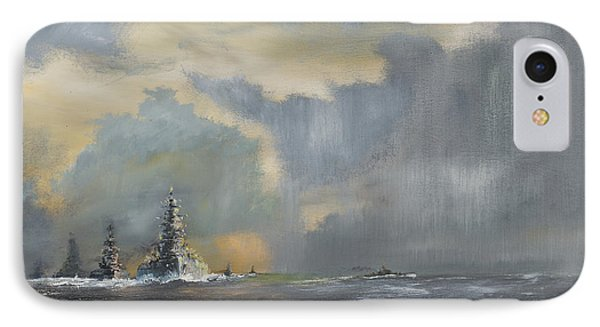 Japanese Fleet In Pacific IPhone Case by Vincent Alexander Booth