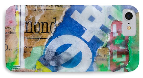 Japanese Newspaper Encaustic Mixed Media IPhone Case by Edward Fielding