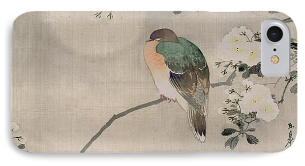 Japanese Silk Painting Of A Wood Pigeon IPhone 7 Case by Japanese School