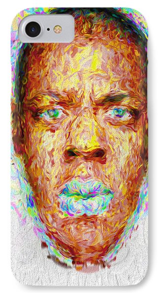 Jay Z Painted Digitally 2 IPhone 7 Case by David Haskett
