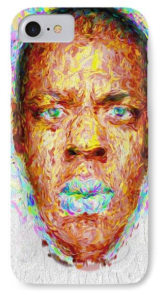 Jay Z Painted Digitally 2 IPhone Case by David Haskett