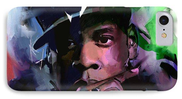 Jay Z IPhone Case by Richard Day