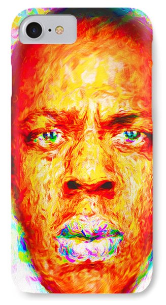 Jay-z Shawn Carter Digitally Painted IPhone 7 Case by David Haskett