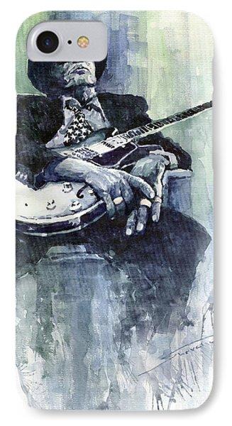 Jazz Bluesman John Lee Hooker 04 Phone Case by Yuriy  Shevchuk