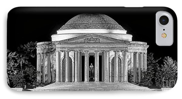 Jefferson Memorial Lonely Night IPhone 7 Case by Olivier Le Queinec