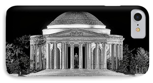 Jefferson Memorial Lonely Night IPhone Case by Olivier Le Queinec