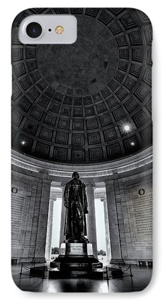 Jefferson Statue In The Memorial IPhone 7 Case by Andrew Soundarajan