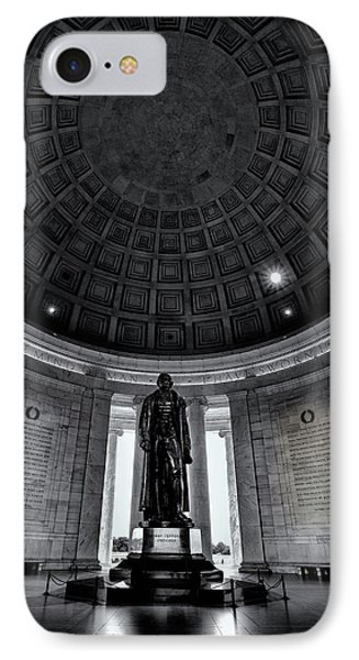 Jefferson Statue In The Memorial IPhone Case by Andrew Soundarajan