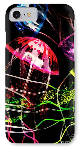 Jelly Fish Trails IPhone Case by Jorgo Photography - Wall Art Gallery