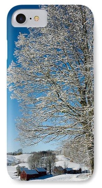 Jenne Farm Winter In Vermont IPhone Case by Edward Fielding