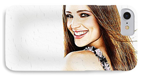 Jennifer Garner IPhone Case by Iguanna Espinosa