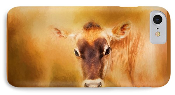 Jersey Cow Farm Art IPhone Case by Michelle Wrighton