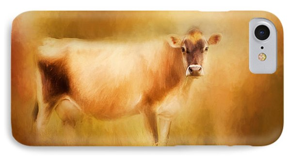 Jersey Cow  IPhone Case by Michelle Wrighton