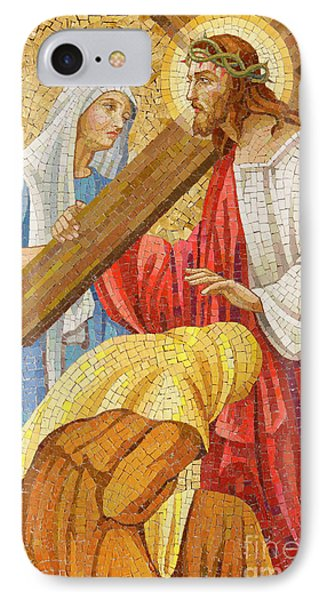 Jesus Carrying The Cross IPhone Case by Unknown