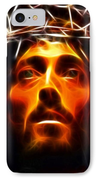 Jesus Christ The Savior IPhone Case by Pamela Johnson
