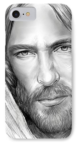 Jesus Face IPhone Case by Greg Joens