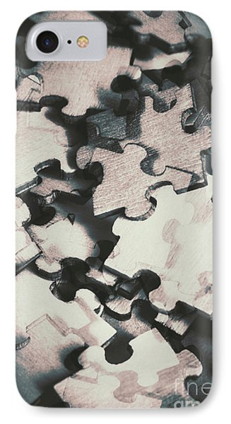 Jigsaws Of Double Exposure IPhone Case by Jorgo Photography - Wall Art Gallery