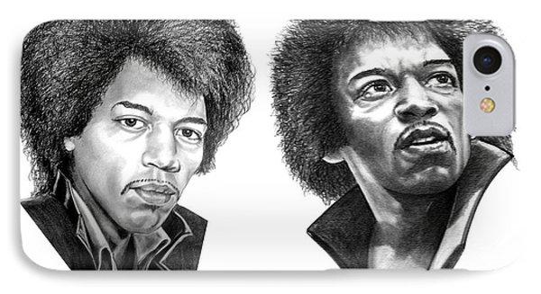 Jimi Hendrix Phone Case by Murphy Elliott