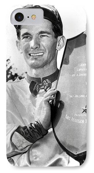 Jockey Willie Shoemaker IPhone Case by Underwood Archives