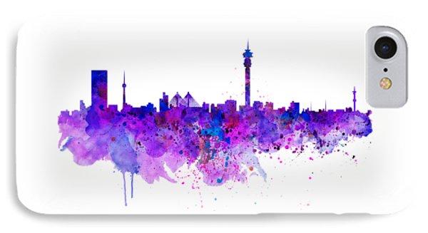 Johannesburg Skyline IPhone Case by Marian Voicu