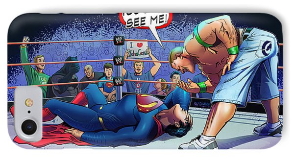 John Cena Vs Superman IPhone 7 Case by Khaled Alsabouni