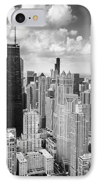 John Hancock Building In The Gold Coast Black And White IPhone 7 Case by Adam Romanowicz