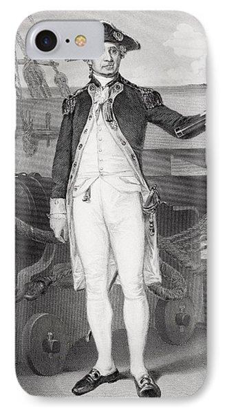 John Paul Jones 1742-1792. American IPhone Case by Vintage Design Pics
