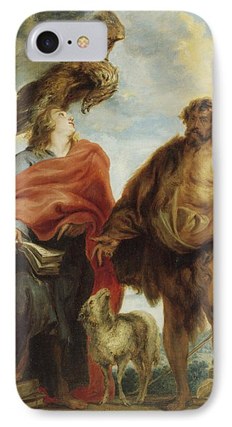 John The Evangelist And Saint John The Baptist IPhone Case by Anthony van Dyck