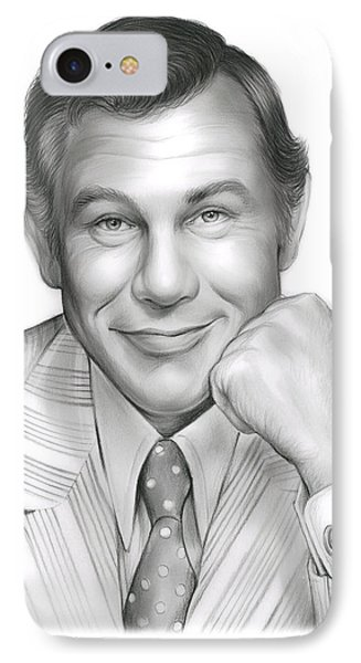 Johnny Carson IPhone Case by Greg Joens