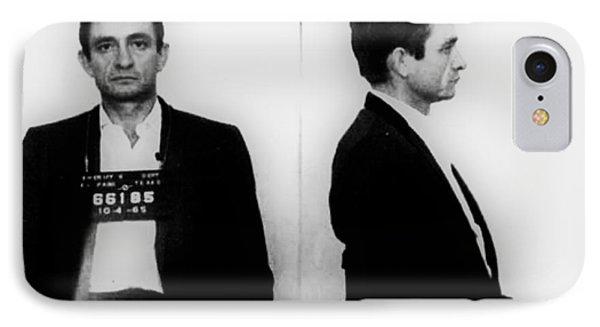 Johnny Cash Mug Shot Horizontal IPhone Case by Tony Rubino