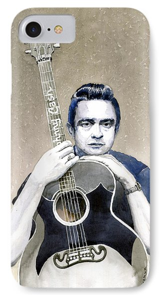 Johnny Cash IPhone 7 Case by Yuriy  Shevchuk