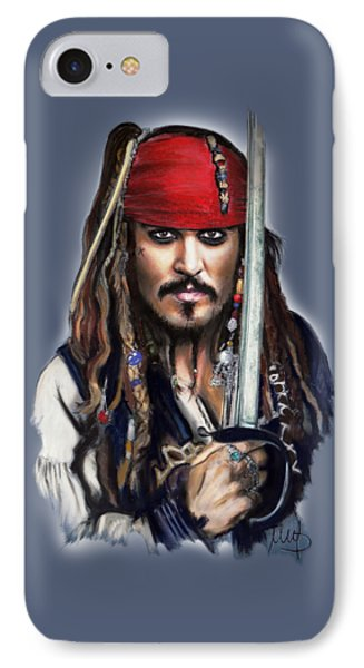 Johnny Depp As Jack Sparrow IPhone Case by Melanie D