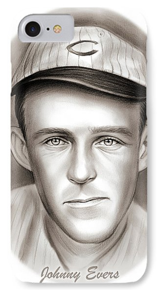 Johnny Evers IPhone Case by Greg Joens