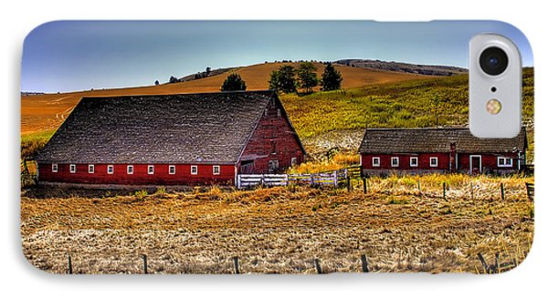 Johnson Road Barns Phone Case by David Patterson