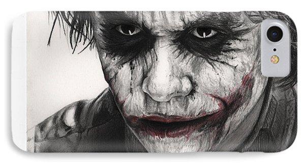 Joker Face IPhone 7 Case by James Holko