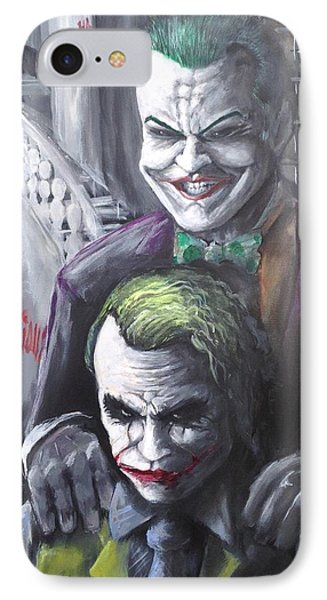 Jokery In Wayne Manor IPhone 7 Case by Tyler Haddox