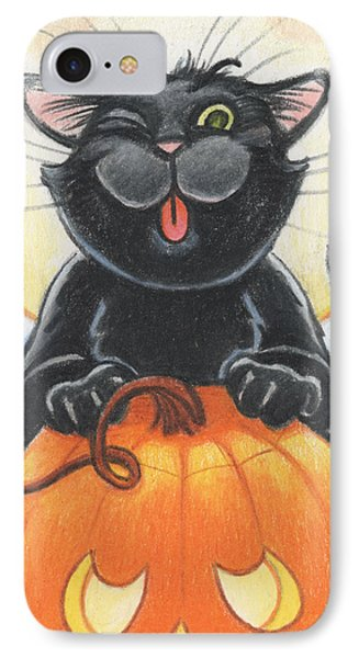 Jolly Ollie Halloween Phone Case by Amy S Turner