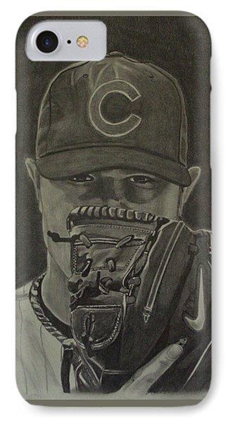 Jon Lester Portrait IPhone Case by Melissa Goodrich