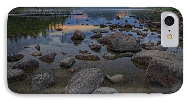 Jordan Pond Afterglow IPhone Case by Rick Berk