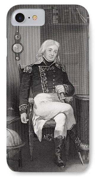 Joshua Barney 1759-1818. Distinguished IPhone Case by Vintage Design Pics